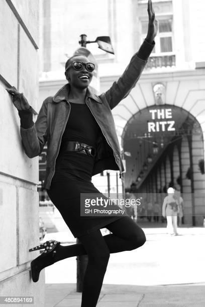 Fashion model Alek Wek is photographed for I-D magazine on April 7, 2008 in London, England.