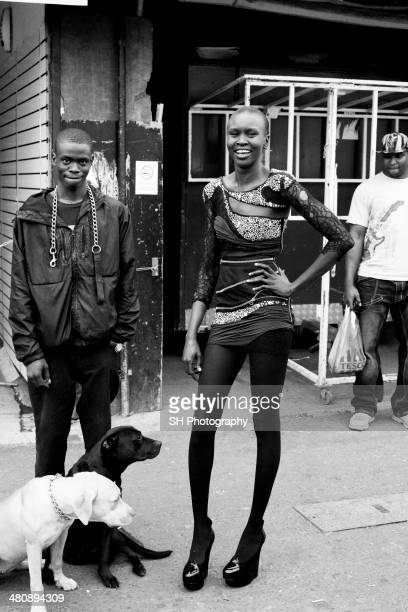 Fashion model Alek Wek is photographed for ID magazine on April 7 2008 in London England