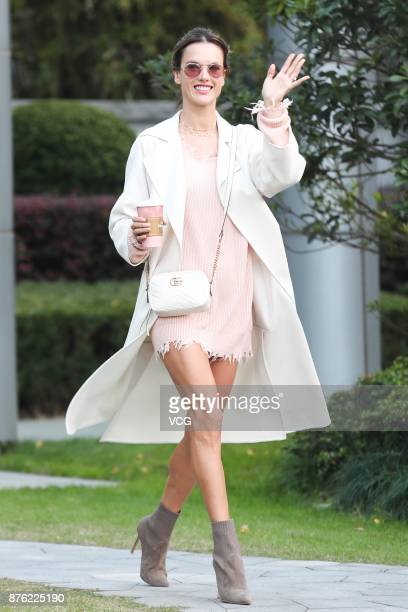 Fashion model Alessandra Ambrosia is seen in Shanghai before the Victoria's Secret Fashion Show on November 19 2017 in Shanghai China