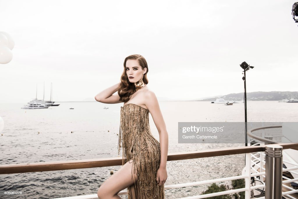 Fashion model Alexina Graham is photographed in Cannes, France on May 25, 2017.