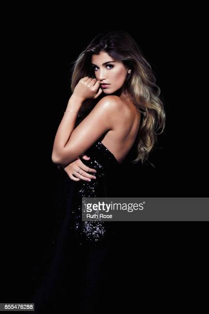 Fashion model Amy Willerton is photographed on August 12 2015 in London England