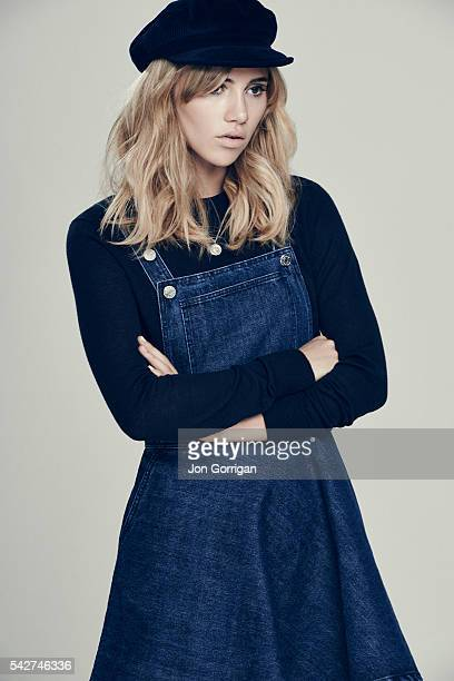 Fashion model and actor Suki Waterhouse is photographed for the Guardian on July 3 2014 in London England