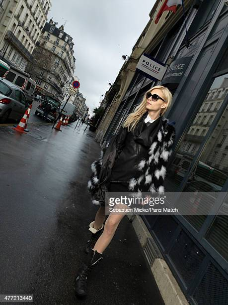 Fashion model and transgender woman Andrej Pejic is photographed for Paris Match on January 25 2012 in Paris France