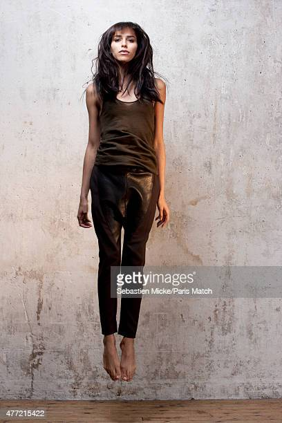 Fashion model and transgender woman Lea T is photographed for Paris Match on March 6 2011 in Paris France
