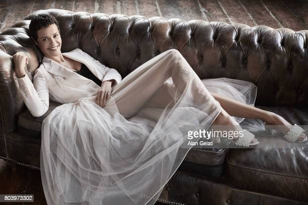 Fashion model and tv presenter Nadege Dubospertus is photographed for Vanity Fair on November 28 2016 in Milan Italy