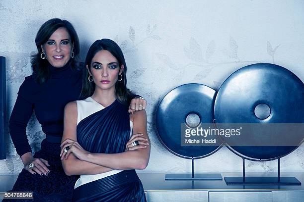 Fashion model Annabelle Belmondo is photographed with Pilar Coin for Hola magazine on December 1 2015 in Venice Italy