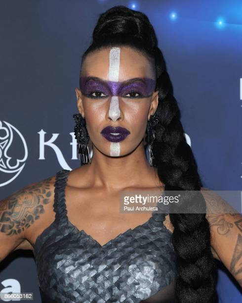 Fashion Model Azmarie Livingston attends the 2017 Maxim Halloween party at Los Angeles Center Studios on October 21 2017 in Los Angeles California