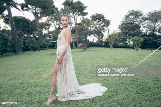 Fashion model Bella Hadid is photographed for Paris Match whilst attending the Amfar Gala at the Eden Roc Hotel on May 25 2017 in Antibes France