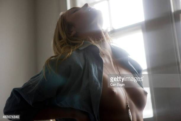 Fashion model Candice Swanepoel is photographed on April 17 2009 in London England