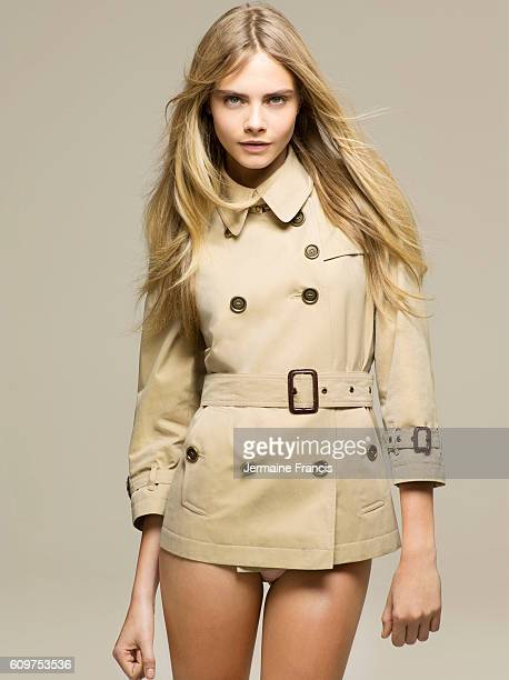 Fashion model Cara Delevingne is photographed for the Sunday Times on January 24 2012 in London England