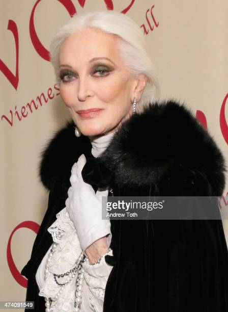 Fashion model Carmen Dell'Orefice attends the 59th Viennese Opera Ball at The Waldorf=Astoria on February 21 2014 in New York City