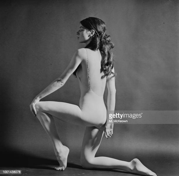 Fashion model Caroline Foley wearing nude bodysuit designed to be worn under see-through clothes by British fashion designer Mary Quant, UK, 23rd...