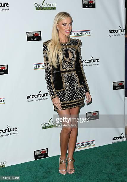 Fashion Model Claudine Keane attends the 2016 Oscar Wilde Awards at Bad Robot Studios on February 25 2016 in Santa Monica California