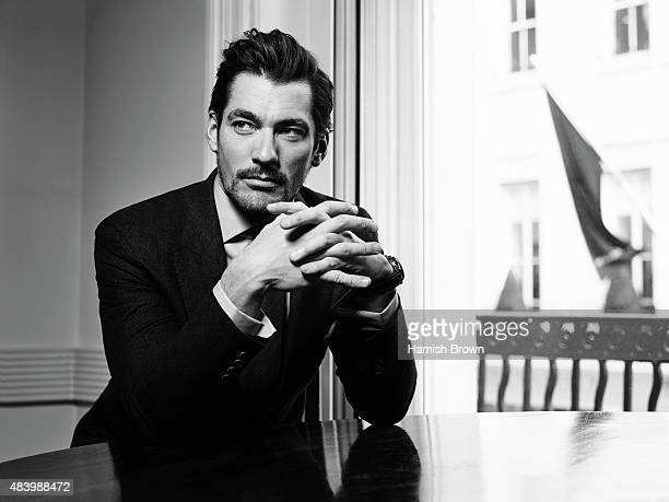 Fashion model David Gandy is photographed for Red magazine on January 15 2015 in London England