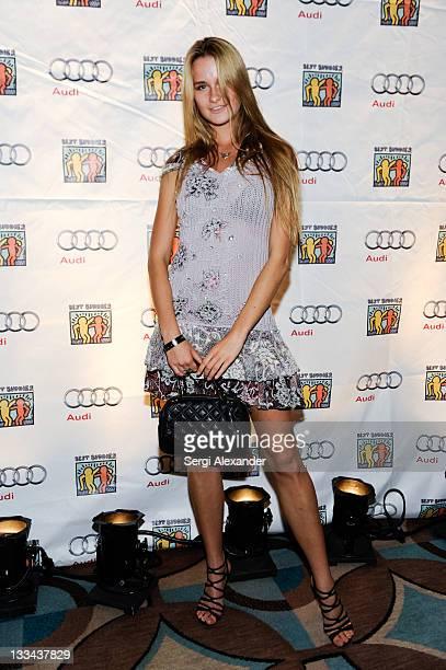 Fashion model Elena Kurnosova arrives at The Fifteenth Annual Best Buddies Miami Gala at Fontainebleau Miami Beach on November 18 2011 in Miami Beach...