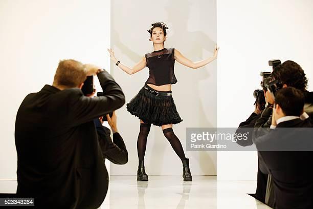 Fashion Model Entering Runway