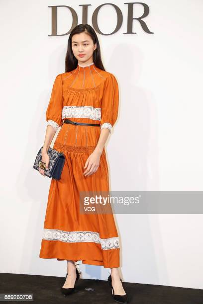 Fashion model Estelle Chen Yu attends a banquet of Dior Lady Art collection on December 9 2017 in Beijing China