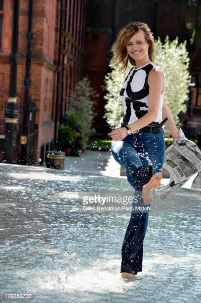 Fashion model Eva Herzigova is photographed for Paris Match on July 8 2013 in London England