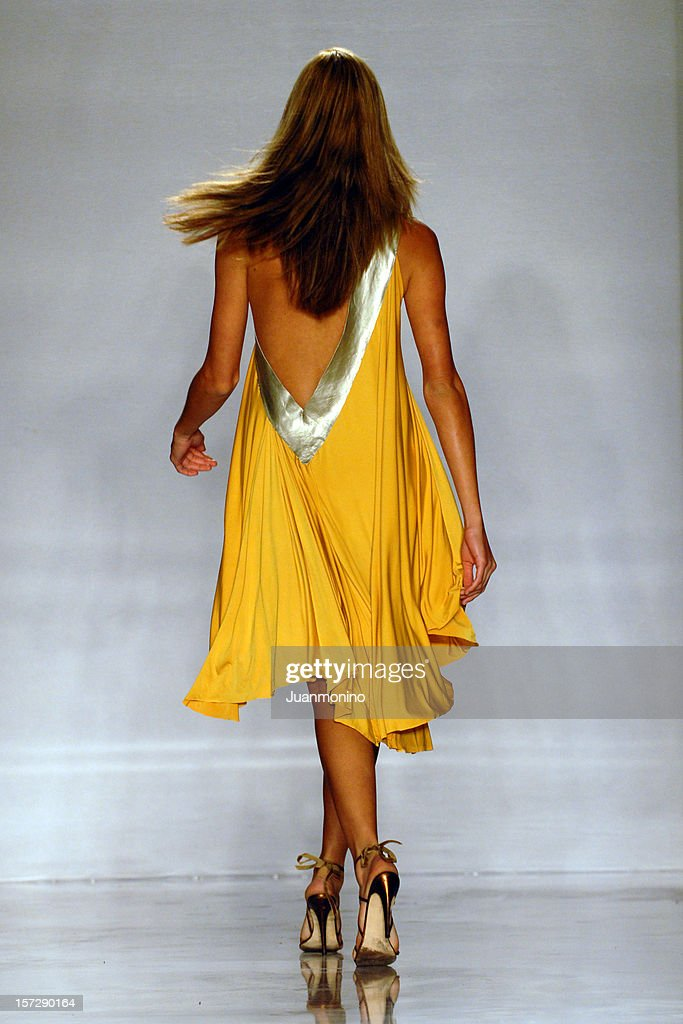 fashion model from behind : Stock Photo