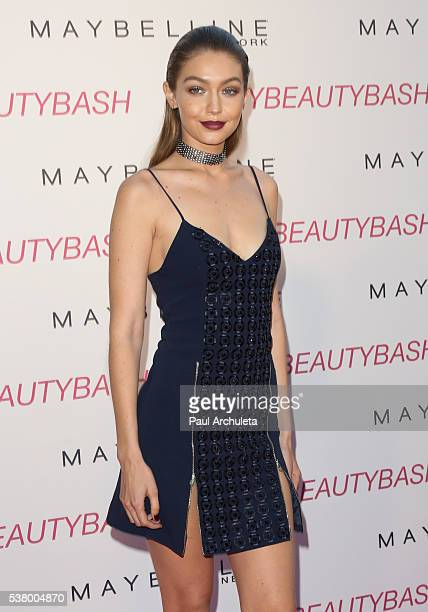 Fashion Model Gigi Hadid attends the Maybelline New York Beauty Bash at The Line Hotel on June 3 2016 in Los Angeles California