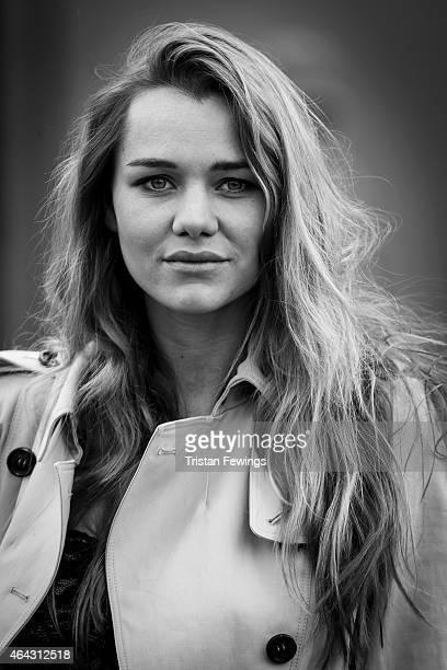 Fashion model Immy Waterhouse is photographed on February 23 2015 while attending Burberry Porsum Fashion show in London England