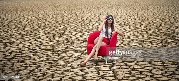 Fashion model in arid climate