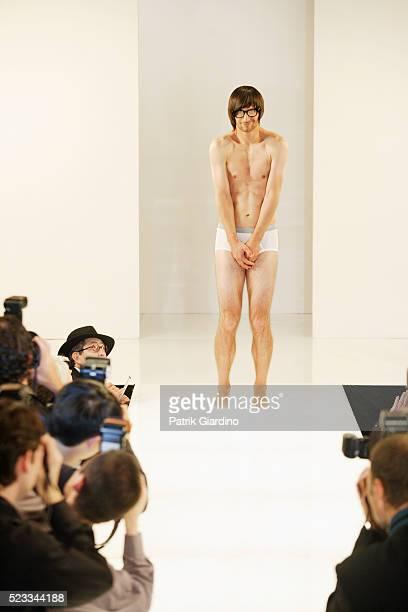 Fashion Model in His Underwear