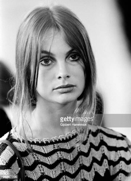 Fashion model Jean Shrimpton In London in 1971