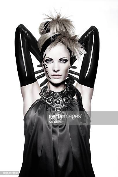 Fashion model Jennifer Hof is photographed on June 13 2008 in London England