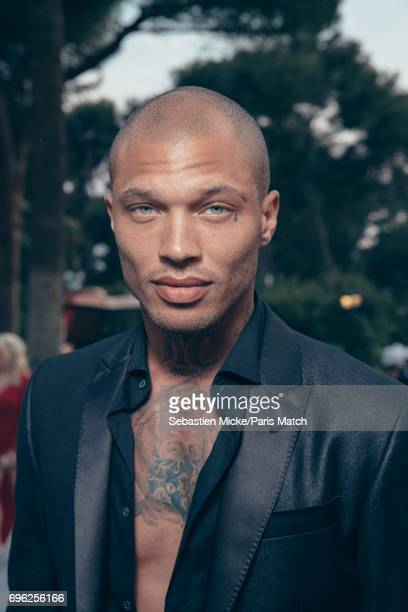 Fashion model Jeremy Meeks is photographed for Paris Match whilst attending the Amfar Gala at the Eden Roc Hotel on May 25 2017 in Antibes France
