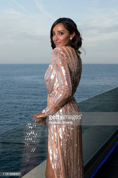 Fashion model Juliana Moreira poses for a portrait during the 16th Monte Carlo Film Festival on March 9 2019 in Monte Carlo Monaco