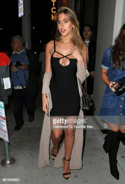 Fashion model Kara Del Toro is seen on March 30 2017 in Los Angeles California