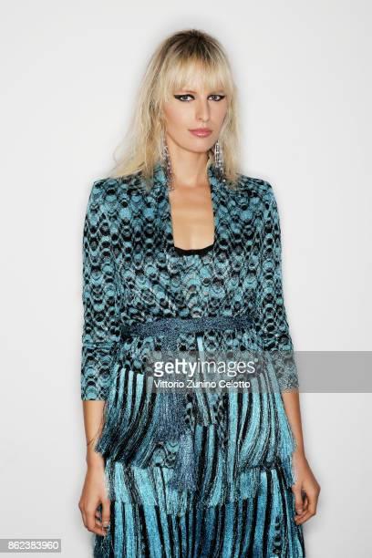 Fashion model Karolina Kurkova poses for a portrait during amfAR Gala Milano on September 21 2017 in Milan Italy