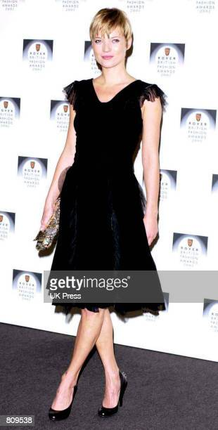 Fashion model Kate Moss attends the Rover British Fashion Awards 2001 at Battersea Park February 20, 2001 in London, England.