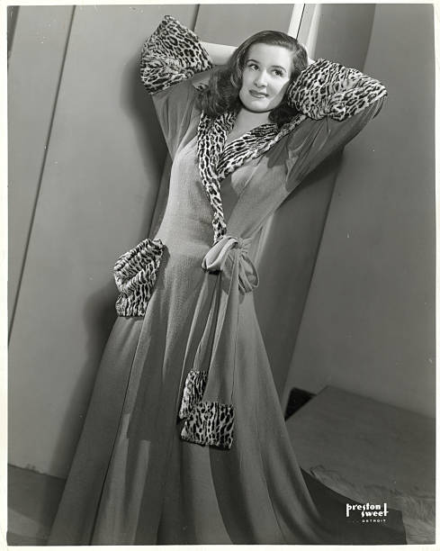 Model Wearing Leopard Dressing Gown Pictures | Getty Images