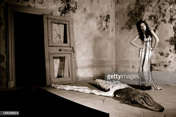 Fashion model Kristina Liliana Matthaeus is photographed on August 29, 2009 in Munich, Germany.
