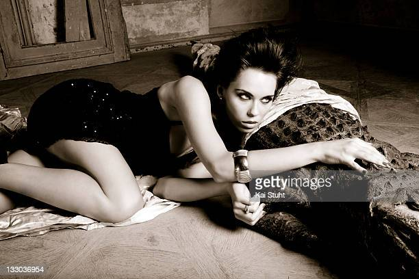 Fashion model Kristina Liliana Matthaeus is photographed on August 29 2009 in Munich Germany