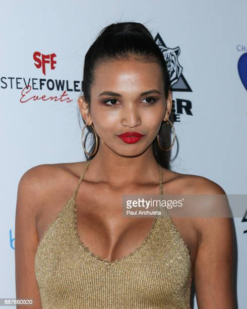 Fashion Model Kristina Menissov attends the 10th annual Babes In Toyland charity toy drive at Avalon on December 6 2017 in Hollywood California