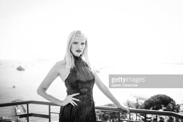 Fashion model Lara Stone is photographed in Cannes France on May 24 2017
