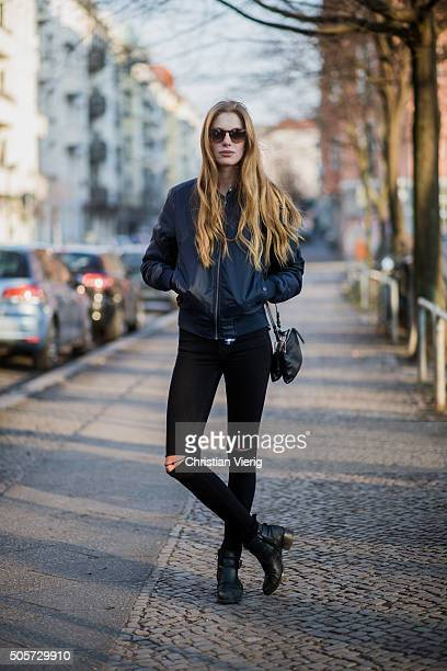 Fashion Model Lisa Marie Dahlke during the MercedesBenz Fashion Week Berlin Autumn/Winter 2016 on January 19 2016 in Berlin Germany