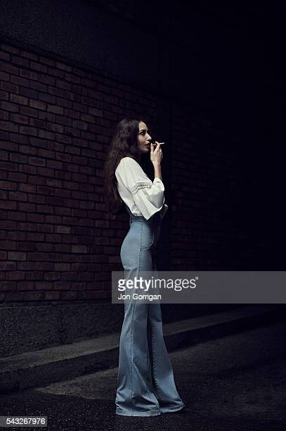 Fashion model Lizzy Jagger is photographed for the Schoen magazine on December 15 2013 in London England