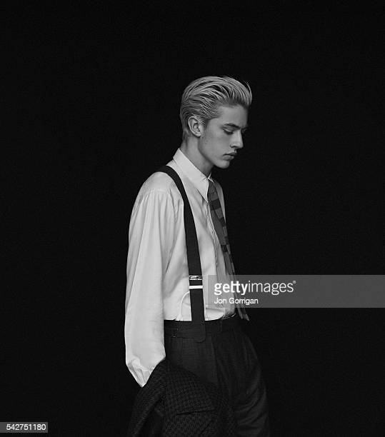 Fashion model Lucky Blue Smith is photographed for Esquire magazine on July 2 2015 in London England