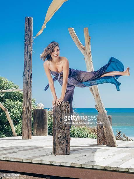 Fashion model Miranda Kerr is photographed for Paris Match on March 15 2016 in Malibu California