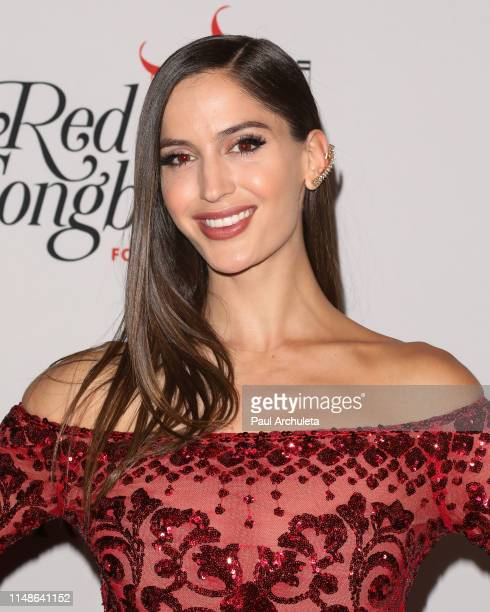 Fashion Model Natalia Barulich attends the Hilary Roberts birthday celebration and the Red Songbird Foundation launch party at The Beverly Hilton...