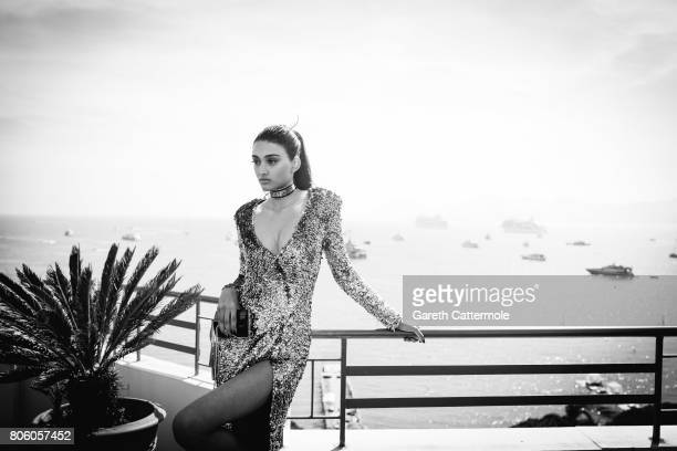 Fashion model Neelam Gill is photographed in Cannes France on May 24 2017