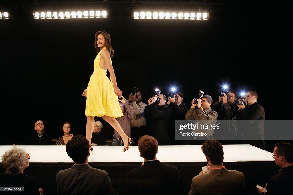 Fashion Model on Runway : Stock Photo