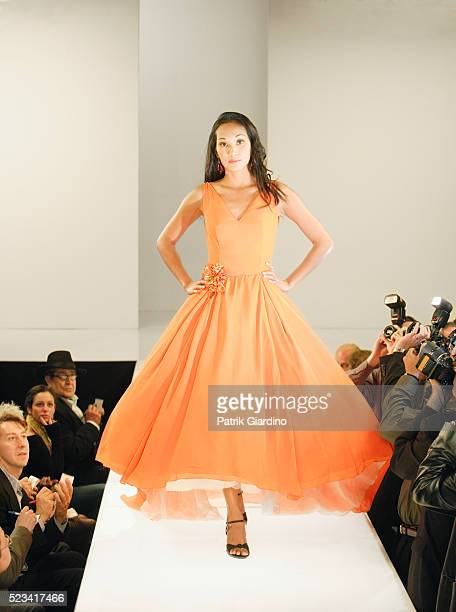 fashion model on runway - haute couture stock pictures, royalty-free photos & images
