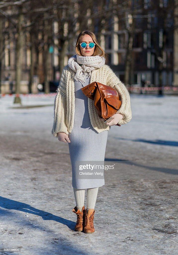 Street Style Day 1 - Mercedes-Benz Fashion Week Berlin Autumn/Winter 2016 : News Photo