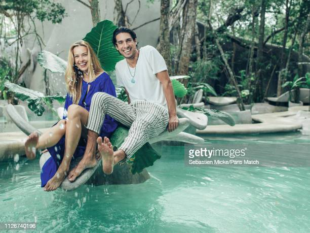 Fashion model Petra Nemcova and Benjamin Larretche are photographed for Paris Match at the Azulik ecologic resort on January 26 2018 in Tulum Mexico
