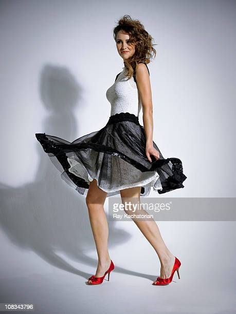 fashion model - skirt stock pictures, royalty-free photos & images